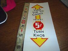 NORTHWESTERN 5 Cent Tab Gum Machine WATER RELEASE item  #48
