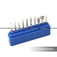 Dental Diamond Burs Set For Shouldered Abutment 10PCS FG1.6MM
