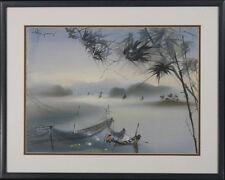 "Original Painting on Silk: ""Silk Fisherman"""