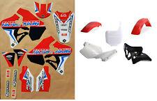 New CR 125 95 96 97 CR 250 95 96 FLU PTS4 Graphics Sticker Plastic Kit Plastics