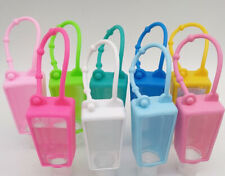3 Pack Silicon Carrying Holder Case for Mini 1oz Hand Sanitation Bottle US Stock
