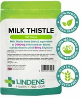 Lindens Milk Thistle Seed Extract 100mg (2000mg eq) Tablets 120 Pack