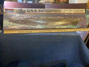 1/400 Scale Monogram USS Enterprise Carrier Ship Model Kit #3700