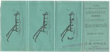 1887 Combined Cultivator and Horse-Hoe Farm Brochure Reading Pennsylvania