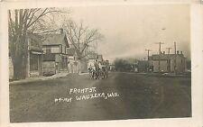 Wisconsin, WI, Wauzeka, Front Street 1910 Real Photo Postcard