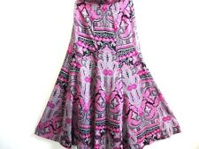 "60's Vintage Alcorn Women Maxi Skirt Multi Size 38 27"" waist Grade A WB119"