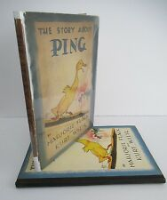 THE STORY ABOUT PING by Marjorie Flack and Kurt Wiese, 1933, 1st Ed. in DJ