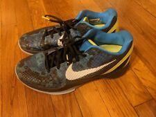 Nike Zoom Kobe 6 VI 2011 Blue Camo Blue Volt Grey White Size 9.5 429659-401