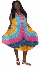 Tye It Up Women's Boutique Cruise Inspired Pink Dress Cover-up One Size M-1X