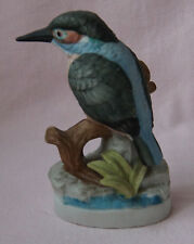BIRD POTTERY ORNAMENT KINGFISHER ON BRANCH
