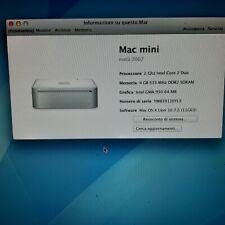 Mac Mini 2007 apple desktop core duo 2ghz 4gb ram ssd 120 gb + hd 250 gb os 10.7