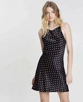 BEC & BRIDGE polka dot Raw Hem Kylie mini Dress Size 10