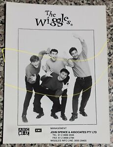 The Wiggles - rare authentic original Management booking card / pamphlet