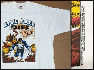 Vtg 80s 90s Marvel Comic Images T Shirt X-Men Wolverine Punisher NEW RARE XL