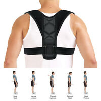 Women Men Adjustable Posture Corrector Back Shoulder Support Correct Brace Belt