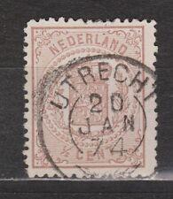NVPH Netherlands Nederland nr 13 TOP CANCEL UTRECHT Wapenzegels 1869-1871
