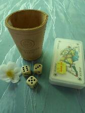 Knobelbecher Leder + Spielkarten Warsteiner Würfelbecher