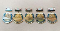 Set Lot Vintage Rusian Soviet Pin Badges Warship Ships of the Soviet Navy USSR