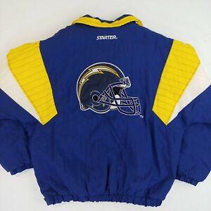Vintage Starter Jacket pull over size large Chargers NFL football