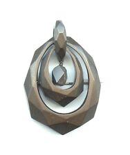 Victorian 1860 Gutta Percha Vulcanite Dangle Pin Pendant Extended Pin Stem