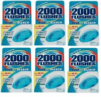 6 New!! 2000 Flushes Clean Scent Automatic Toilet Bowl Cleaner 4oz Tablet 208017