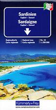 Italien 16 - Sardinien 1 : 200 000 - Regionalkarte / Straßenkarte Kümmerly+Frey