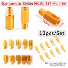 10pcs Carburetor Main Jet kit for Keihin OKO KOSO PE PWK Choose from 118 -160