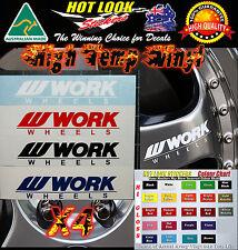 4 x Work Wheels Rim sticker decals all color available silvia skyline R35 EVO