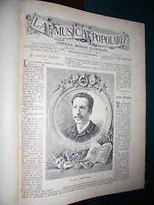 LA MUSICA POPOLARE Giornale ebdomadario illustrato di testo, musica ANNATA 1885