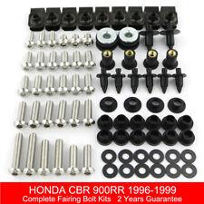 Complet Carénage Boulon Kit Carrosserie vis pour 1996-1999 HONDA CBR900RR 1997 1998