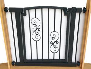 """34""""-40"""" Noblesse Indoor Dog & Pet Adjustable Metal Safety Gate - Black"""