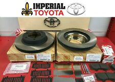 2003-2009 TOYOTA 4RUNNER GENUINE OEM NEW FRONT BRAKE ROTORS PAD KIT SHIMS & PINS