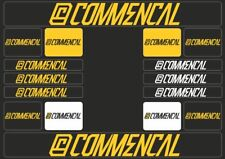 COMMENCAL Mountain Bicycle Frame Decal Sticker Graphic Adhesive Set Vinyl Yellow