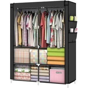 Closet Shelves Heavy Duty Portable Wardrobe Organizer Clothes Rack Storage Self