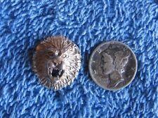 Lion's Head Pendant 925 Vintage Sterling Silver Pendant Collectible