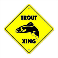 Trout Crossing Decal Zone Xing flats boat fly rod reel fisherman fishing fish