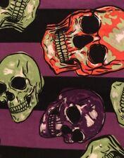 Lularoe TC Skulls NEON Green & Orange Purple Black
