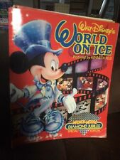 1988 Disney's Mickey Mouse Diamond Jubilee World On Ice Skating Program