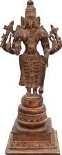 "Master Art Vishnu 8 Hands Standing Statue 14"" Jai God Hindu Old Brass Figure 4KG"