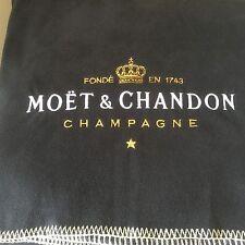 MOET & CHANDON LARGE BLACK PICNIC BLANKET