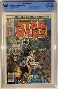 Star Wars 2 1977 CBCS not CGC 9.6 White Pages