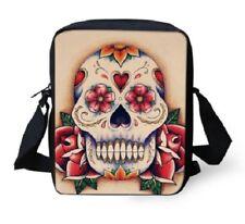 Canvas Unisex Mens Ladies Cross-body Bag Messenger Bag - Sugar Skull