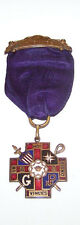 VERY NICE-EARLY 1900'S-MASONIC-DAMES OF MALTA-HARMONY CHAPTER #151 JEWEL W/CASE
