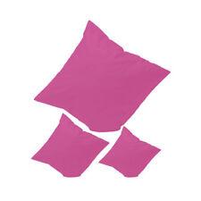4 Stück Kissenbezug 50x50 Reißverschluss  Baumwolle Kissen Hülle Bezüge +PINK+