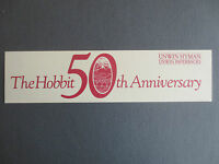 BOOKMARK The Hobbit J R R Tolkien 50th Anniversary 1987 UNWIN HYMAN Books PROMO