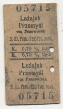 Fahrkarte Lancut-Oderberg, Österreich, Polen, Ukraine ca. 1915. (559)