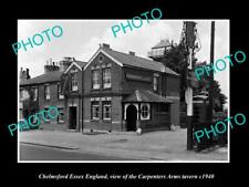OLD LARGE HISTORIC PHOTO CHELMSFORD ESSEX ENGLAND, CARPENTERS ARMS TAVERN c1940
