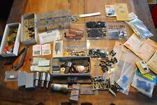 HUGE LOT OF 100S VINTAGE MODEL RAILROAD TRAIN LAYOUT PARTS ACCESSORIES,TINY NAIL