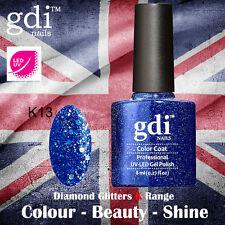 UK SELLER Gdi Nails Diamond Glitters K13 UV/LED Gel Soak Off nail polish