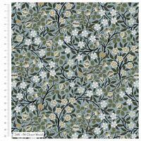 William Morris - Clover Mural - Green Floral - 2681-04 - 100% Cotton